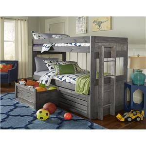 Tall Bunk Bed with Crates