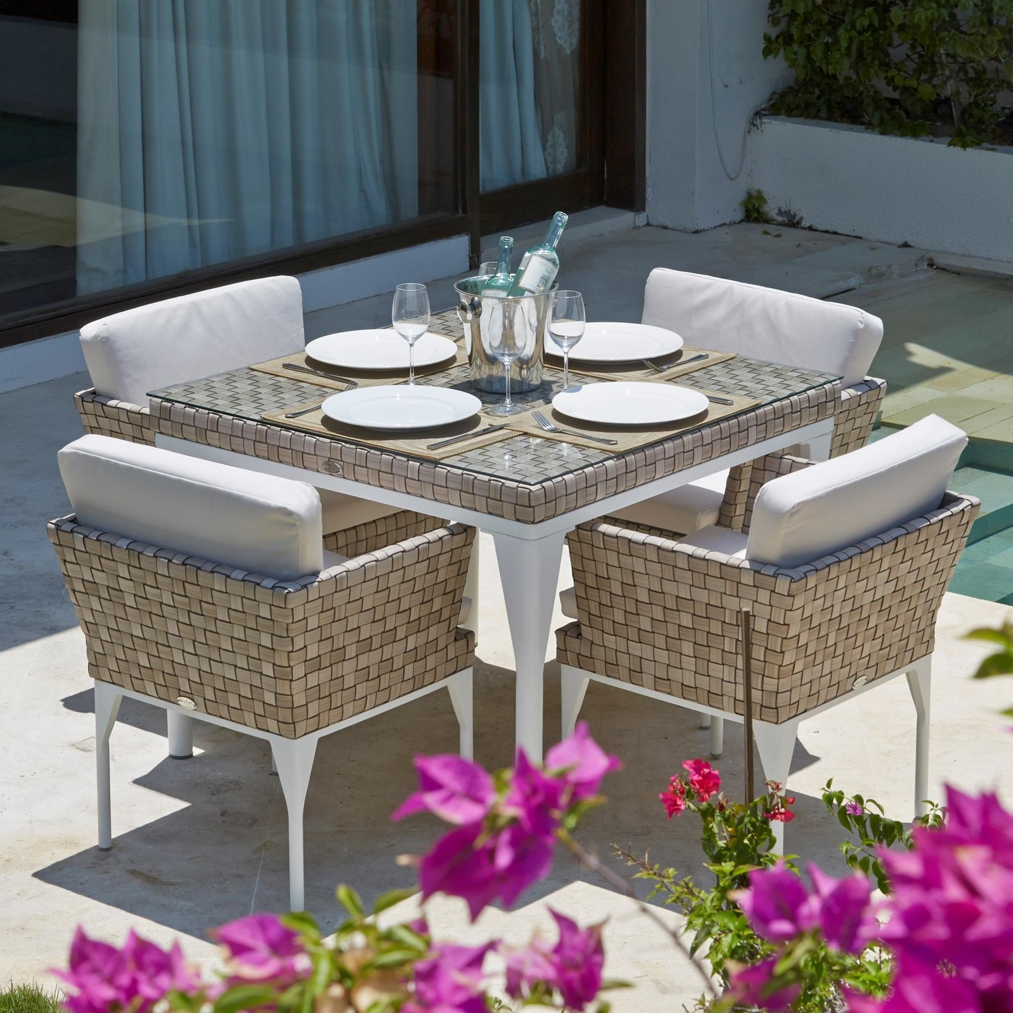 BRAFTA 5 Piece Outdoor Dining Set by Skyline Design at Baer's Furniture