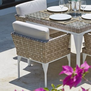 Outdoor Dining Armchair with Cushion