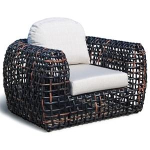 Outdoor Armchair with Open Weave