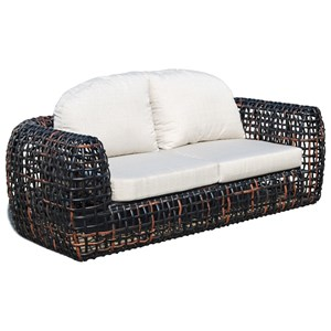 Outdoor Sofa with Open Weave Frame