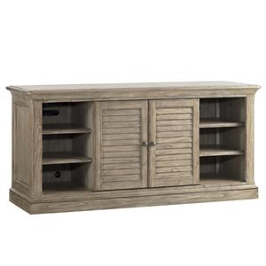 Travis TV Console with Swinging Louvered Doors