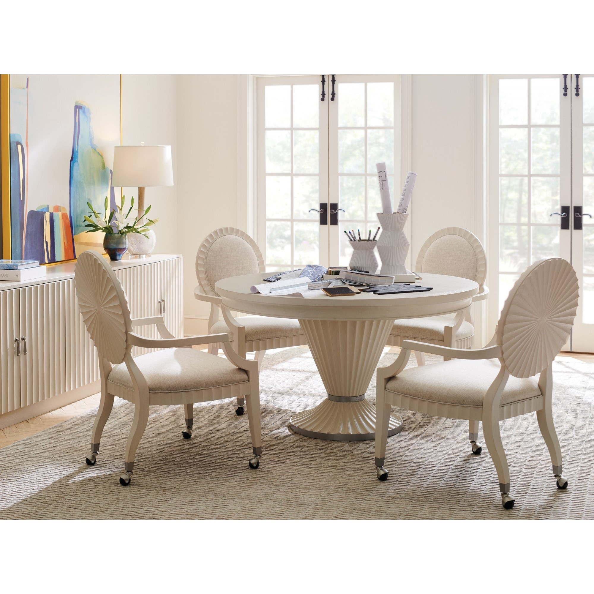 Cascades 5-Piece Game Table and Chair Set by Sligh at Baer's Furniture