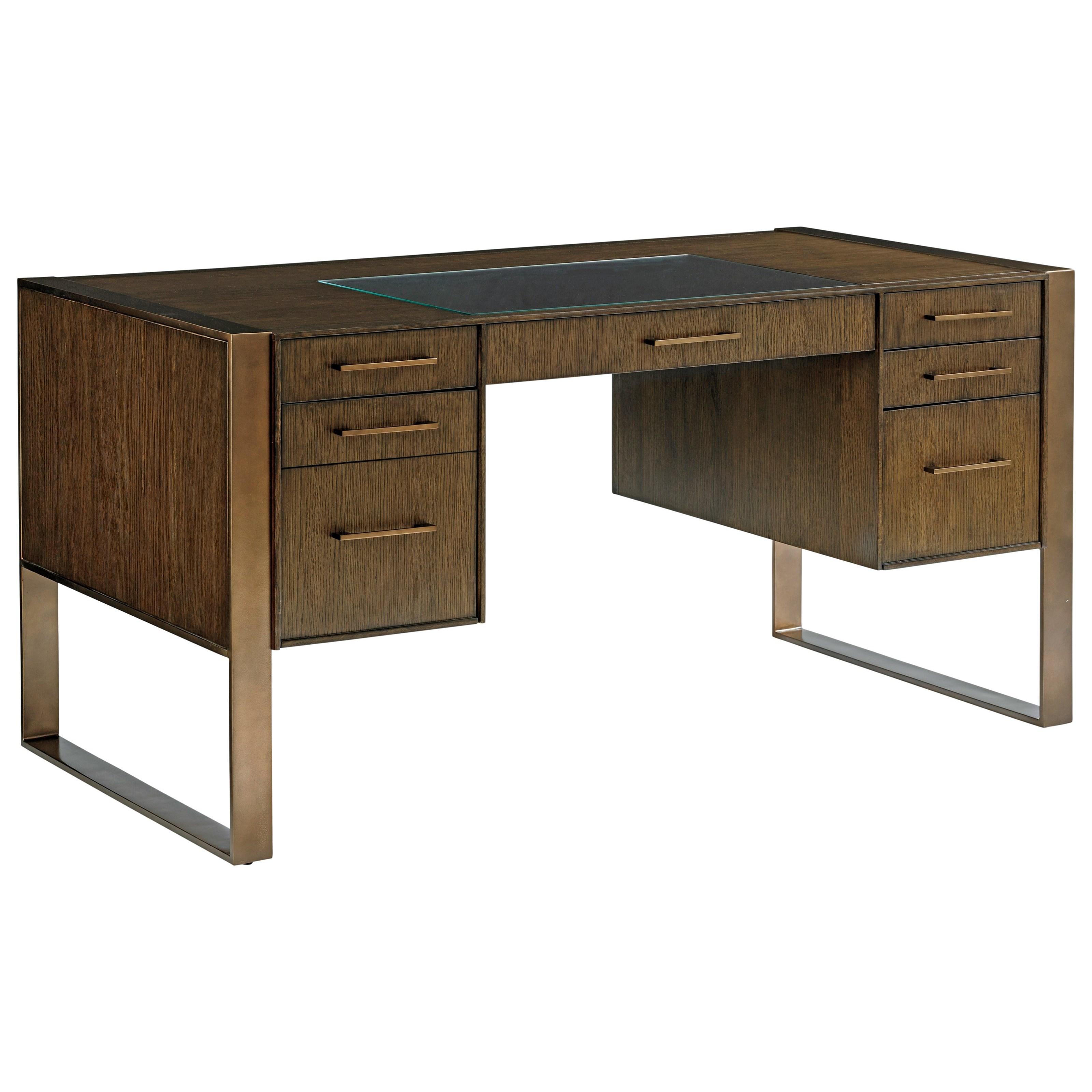 Cross Effect Modern Structure Desk by Sligh at Baer's Furniture