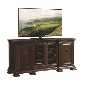 Yorkshire Media Console with Doors and Shelving
