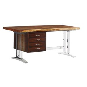 La Costa Writing Desk with Live Edge Wood Top