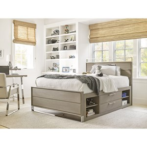 Twin Reading Bed with Storage Unit