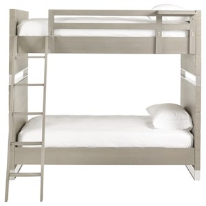Twin Bunk Bed with Top Bunk Shelf