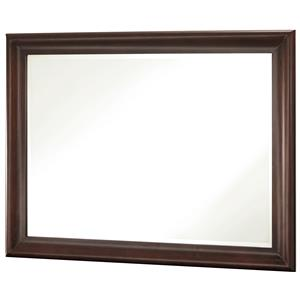 Vertical Beveled Edge Mirror with Wood Frame