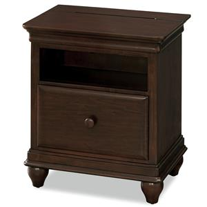 Nightstand with Flip-Up Top & Under-Mounted Nightlight