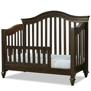 Convertible Crib with Toddler Rail and Arched Back