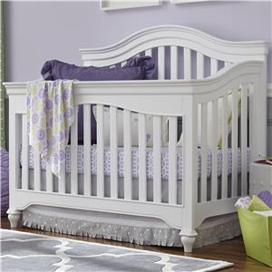 Convertible Crib with Arched Back