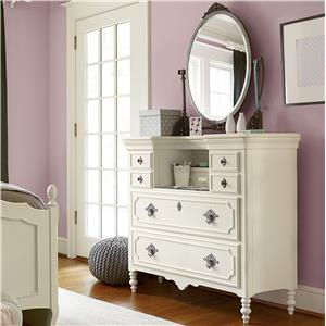 Smartstuff Genevieve Mademoiselle Chest and Mirror Set
