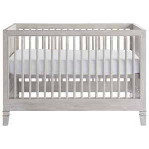 Contemporary Style Weathered Gray Crib