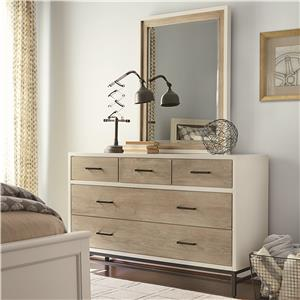 5-Drawer Dresser and Mirror Set
