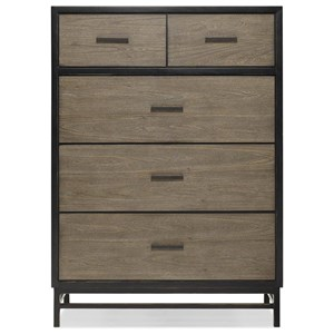5-Drawer Chest with Hidden Jewelry Panel