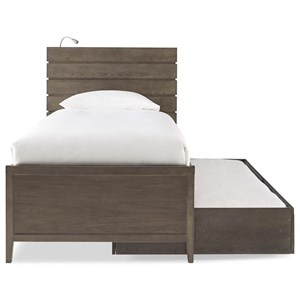 Twin Reading Bed with Trundle and Flex LED Light