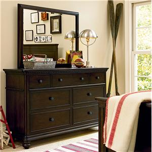 7 Drawer Dresser & Vertical Mirror