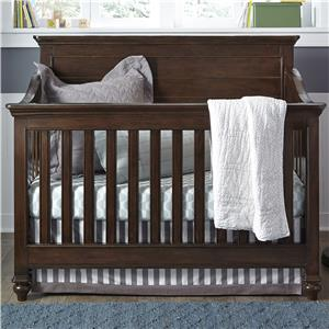 Convertible Crib with Tapered Bun Feet