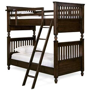 Twin Bunk Bed with Rail Post Design
