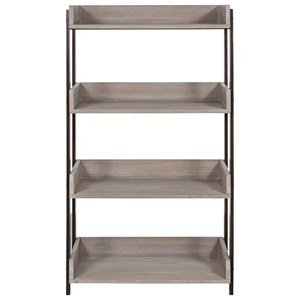 Bookcase with Stainless Steel Frame