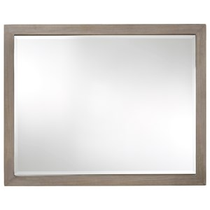 Beveled Glass Mirror with Wood Frame