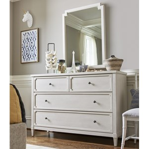 4 Drawer Dresser and Mirror Combo