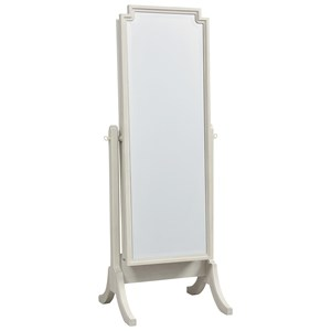 Cheval Storage Mirror with Felt-Lined Storage