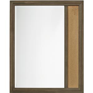 Memory Mirror with Corkboard Panel