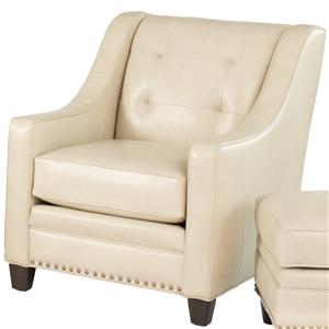 Transitional Stationary Chair with Tufting