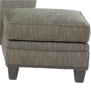 Transitional Ottoman With Nailhead Trim