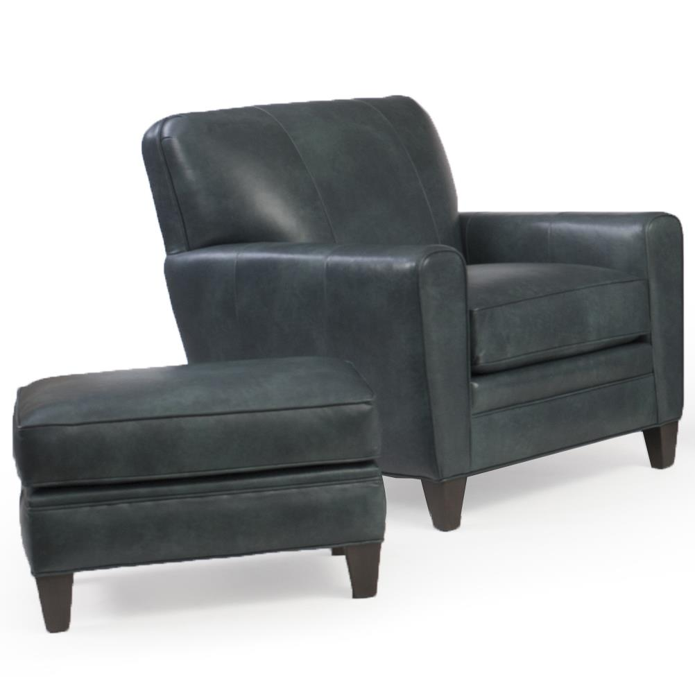 225 Chair & Ottoman Set by Smith Brothers at Westrich Furniture & Appliances