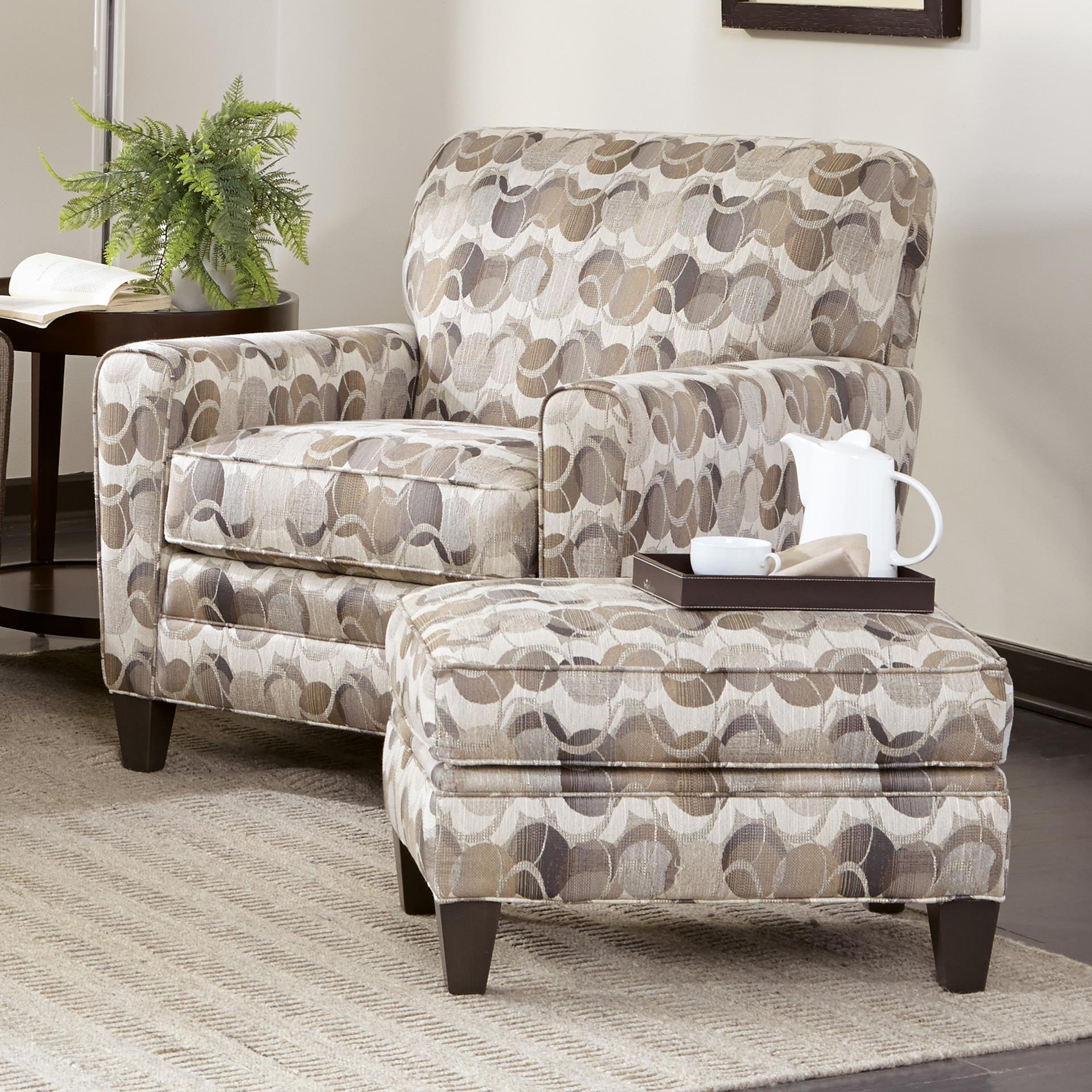 225 Chair & Ottoman Set by Smith Brothers at Gill Brothers Furniture
