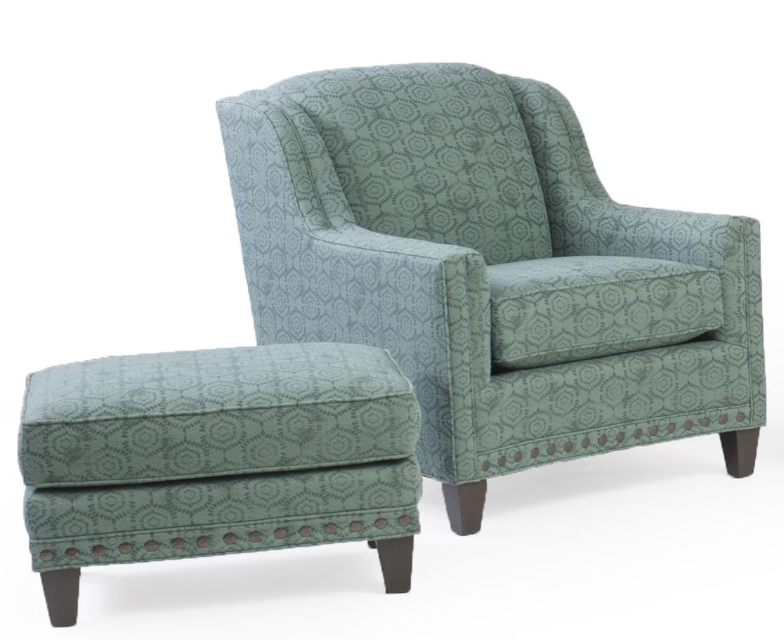 227 Upholstered Chair and Ottoman Combination by Smith Brothers at Rooms for Less