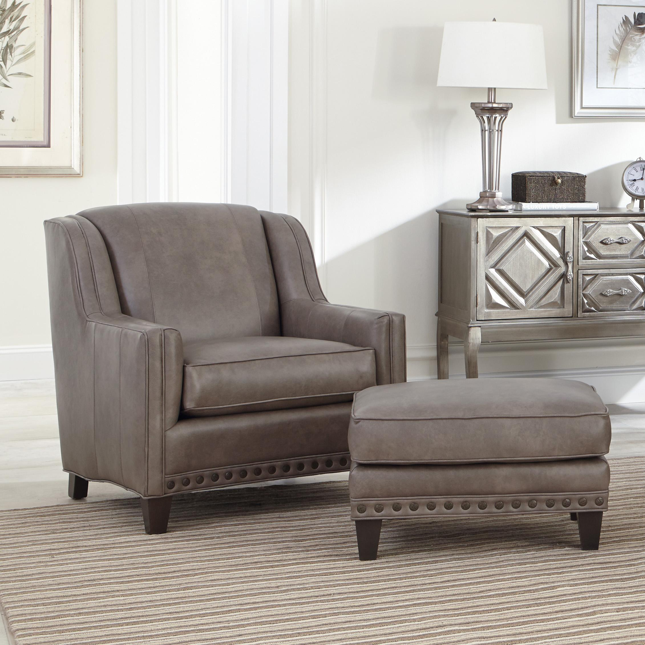 227 Upholstered Chair and Ottoman Combination by Smith Brothers at Saugerties Furniture Mart