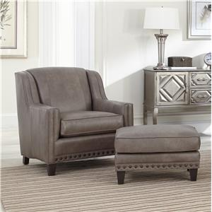 Upholstered Chair and Ottoman Combination