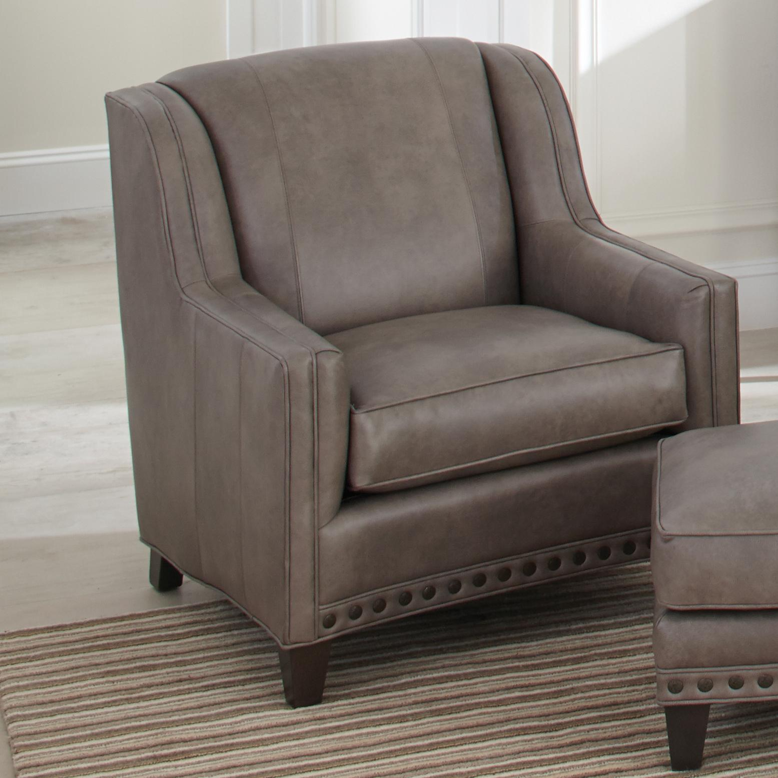 227 Upholstered Chair by Smith Brothers at Mueller Furniture
