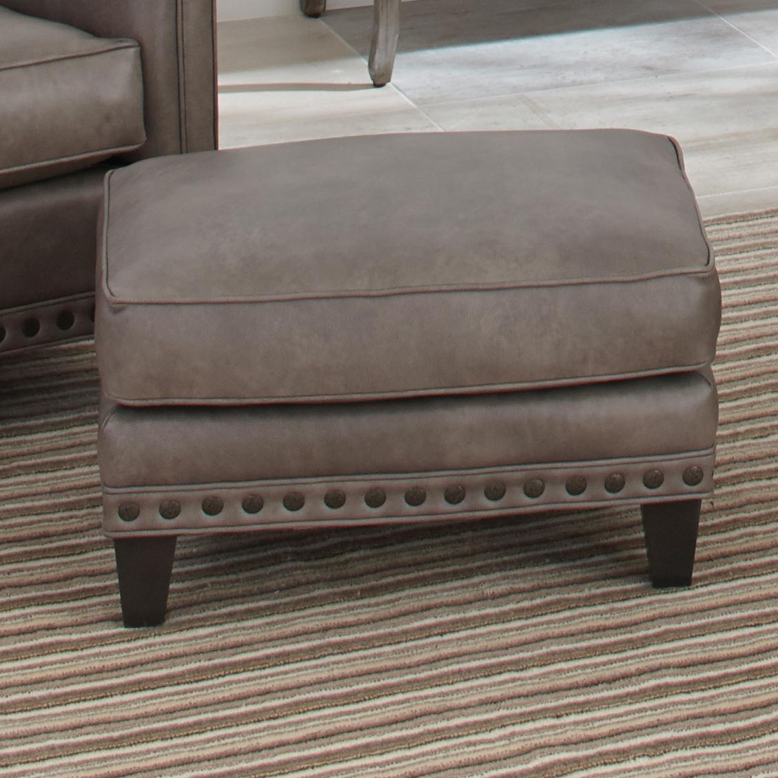 227 Upholstered Ottoman by Smith Brothers at Pilgrim Furniture City