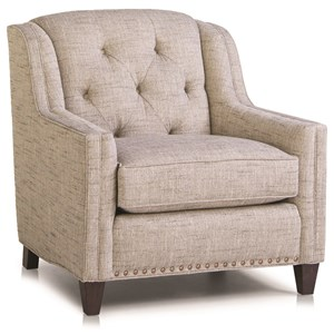 Traditional Chair with Tufted Back and Nailhead Trim