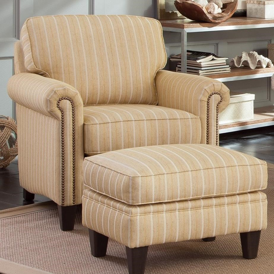 234 Chair and Ottoman Set by Smith Brothers at Saugerties Furniture Mart