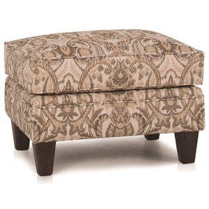 Traditional Ottoman with Tapered Legs