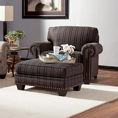 235 Chair and Ottoman by Smith Brothers at Saugerties Furniture Mart