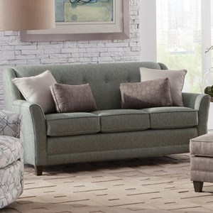 Casual Mid-Size Sofa with Flared Arms