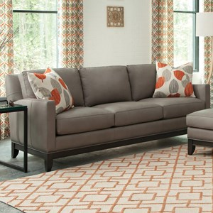 Transitional Sofa with Nailhead Trimmed Base Rail