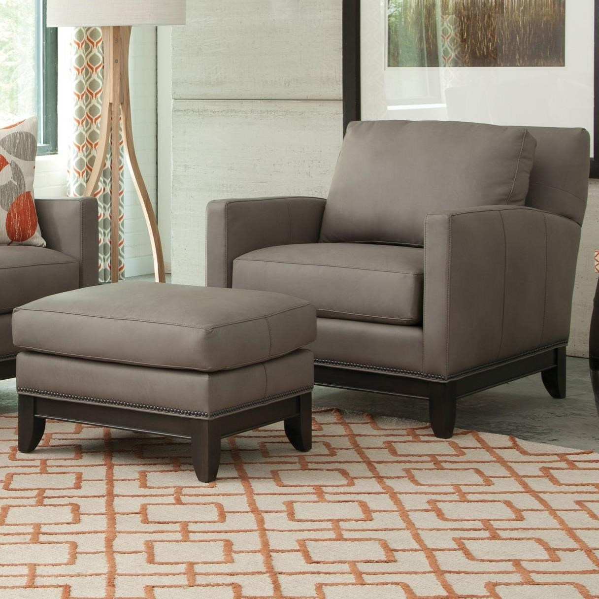 238 Chair and Ottoman Set by Smith Brothers at Mueller Furniture
