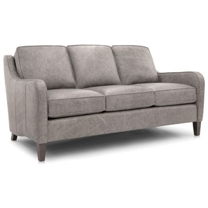 Transitional Mid-Sized Sofa with Slim Track Arms