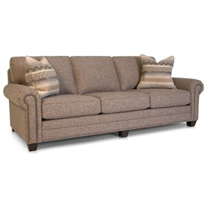 Traditional Sofa with Nailheads