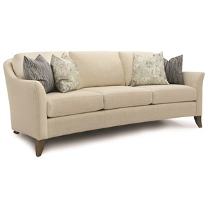 Transitional Sofa with Flare Tapered Arms