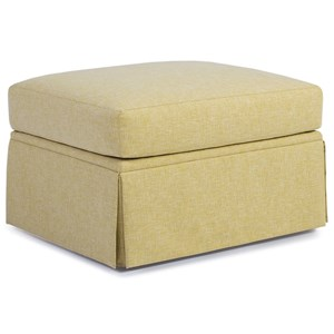 Transitional Ottoman with Skirted Base