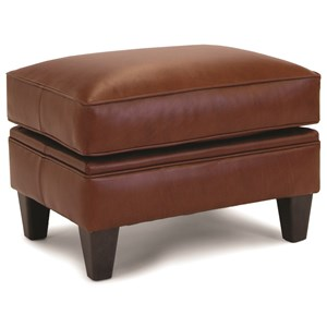 Customizable Ottoman with Tapered Legs